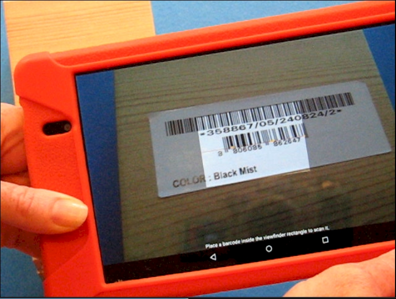 Smart Phone Barcode Capture